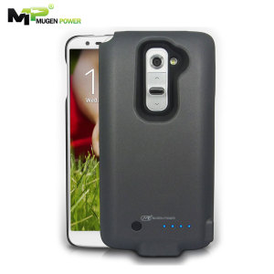 Mugen LG G2 Extended Battery Case 2800mAh - Grey