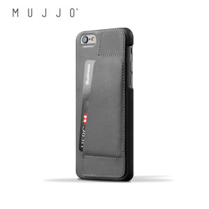 Mujjo Leather Wallet Case 80° iPhone 6S/6 Case - Grey
