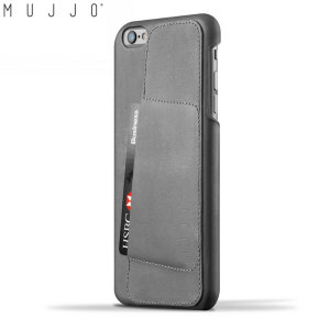 Mujjo Leather Wallet Case 80° iPhone 6S Plus / 6 Plus Case - Grey