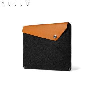 Mujjo MacBook Pro Retina 13 inch Genuine Leather Sleeve - Black/Tan