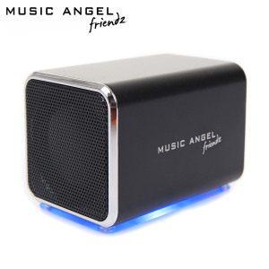 Music Angel Friendz Portable Stereo Speaker - Black