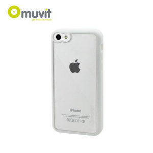 Muvit Bimat Back Case for iPhone 5C - White / Clear