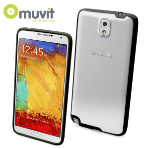 Muvit Bimat Back Case for Samsung Galaxy Note 3 - Clear / Black