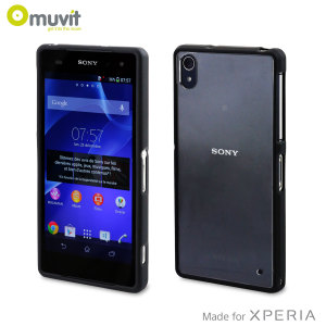 Muvit Bimat Back Case for Sony Xperia Z2 - Clear / Black