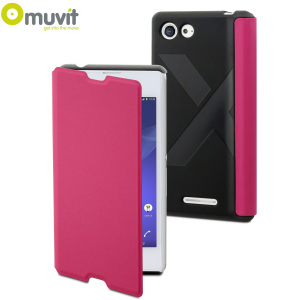 Muvit Easy Folio Sony Xperia E3 Leather-Style Case - Pink