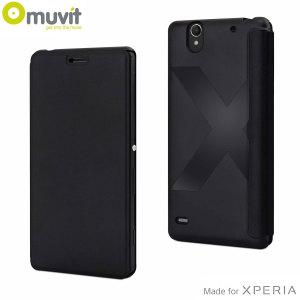 Muvit Easy Folio Leather-Style Sony Xperia C4 Case - Black
