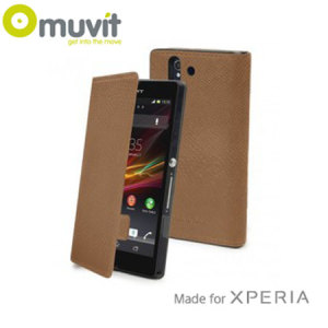 Muvit Made in Paris Case for Sony Xperia Z1 - Camel
