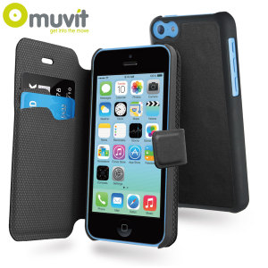 Muvit Magic Folio 2-in-1 Case & Cover for iPhone 5C - Black