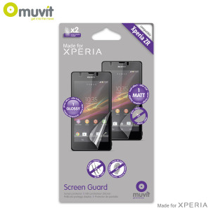 Muvit Matte & Glossy Screen Protector for Sony Xperia ZR