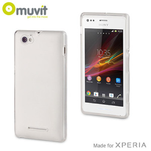 Muvit miniGEL Case for Sony Xperia M - White