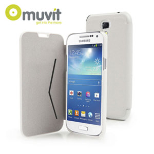 Muvit Samsung Galaxy S4 Mini Folio Case - White Stone