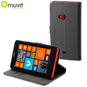 Muvit Slim Folio Case for Nokia Lumia 625 - Black