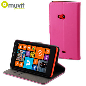 Muvit Slim Folio Case for Nokia Lumia 625 - Pink