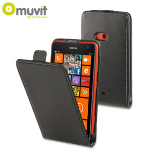 Muvit Slim Folio Flip Case for Nokia Lumia 625 - Black