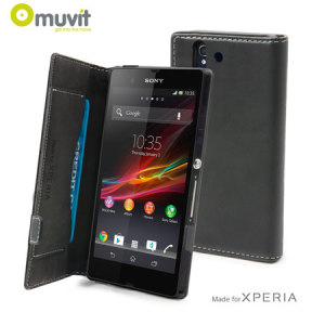 Muvit Sony Xperia Z  Slim Folio Case - Black