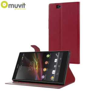 Muvit Sony Xperia Z Ultra Stick N' Stand Case - Red