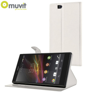 Muvit Sony Xperia Z Ultra Stick N' Stand Case - White