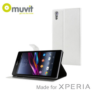 Muvit Sony Xperia Z1 Stick 'N' Stand Case - White