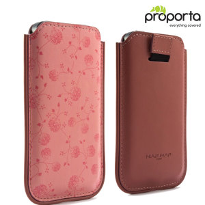 NAF NAF Faux-Leather Paris iPhone 5S / 5 Pouch - Apricot Pink