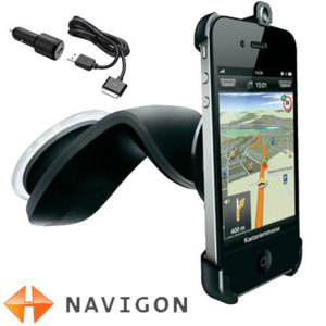 Navigon iPhone 4S / 4 Car Holder with Charger