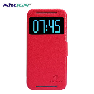 Nillkin Fresh Leather-Style HTC One M8 View Case - Red