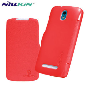 Nillkin HTC Desire 500 Leather-Style Flip Case - Red