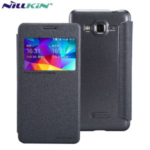 Nillkin Sparkle View Window Samsung Galaxy Grand Prime Case - Black