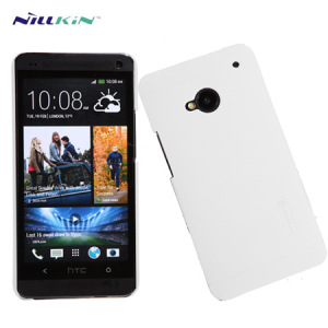Nillkin Super Frosted Case For HTC One M7 + Screen Protector - White