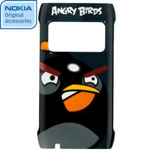 Nokia CC-5000 Angry Birds Hard Cover for N8 - Black Bird