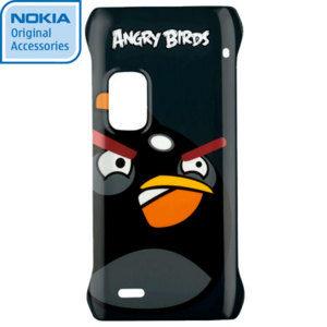 Nokia CC-5001 Angry Birds Hard Cover for E7 - Black Bird