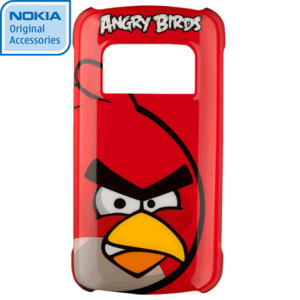 Nokia CC-5003 Angry Birds Hard Cover for C7 - Red Bird