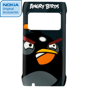 Nokia CC-5004 Angry Birds Hard Cover for X7 - Black Bird