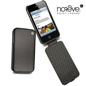 Noreve Tradition A Leather Case for iPhone 4S / 4 - Black