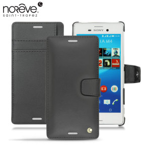 Noreve Tradition B Sony Xperia M4 Aqua Leather Case - Black