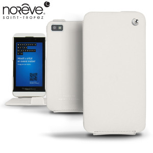Noreve Tradition Leather Case for BlackBerry Z10 - White