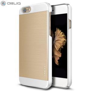 Obliq Slim Meta II Series iPhone 6S Plus / 6 Plus Case - Gold / White