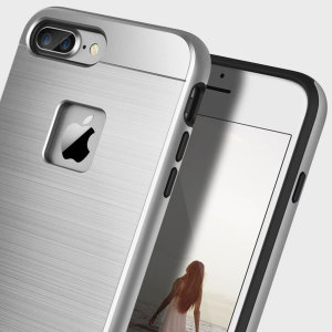 Obliq Slim Meta iPhone 7 Plus Case - Silver Titanium