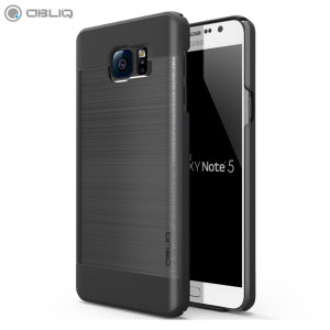 Obliq Slim Meta Samsung Galaxy Note 5 Case - Black / Titanium