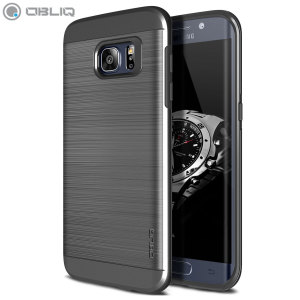 Obliq Slim Meta Samsung Galaxy S7 Edge Case - Titanium Space Grey