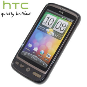 Official HTC Desire TP C520 TPU Skin - Smokey Black