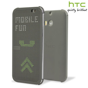 Official HTC One E8 Dot View Case - Grey