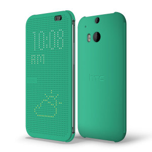 Official HTC One M8 Dot View Case - Green