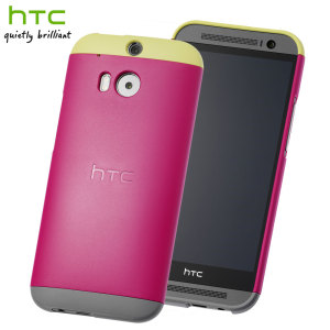 Official HTC One M8 Double Dip Hard Shell - Pink and Yellow