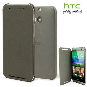 Official HTC One M8 Flip Case - Grey