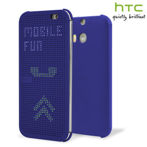 Official HTC One M8 / M8s Dot View Case - Imperial Blue