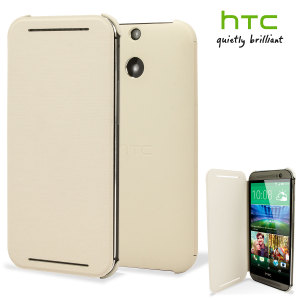 Official HTC One M8 / M8s Flip Case - White