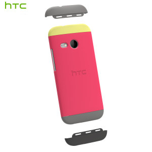 Official HTC One Mini 2 Double Dip Hard Shell - Pink and Grey