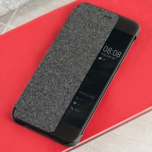 Official Huawei P10 Plus Smart View Flip Case - Dark Grey
