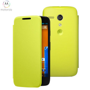 Official Motorola Moto G Flip Cover - Lemon Lime