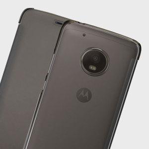 Official Motorola Moto G5 Plus Touch Flip Cover - Smoke Black